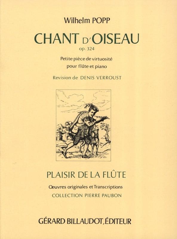 Chant d'Oiseau Op. 324 - Wilhelm Popp - Partition - laflutedepan.com