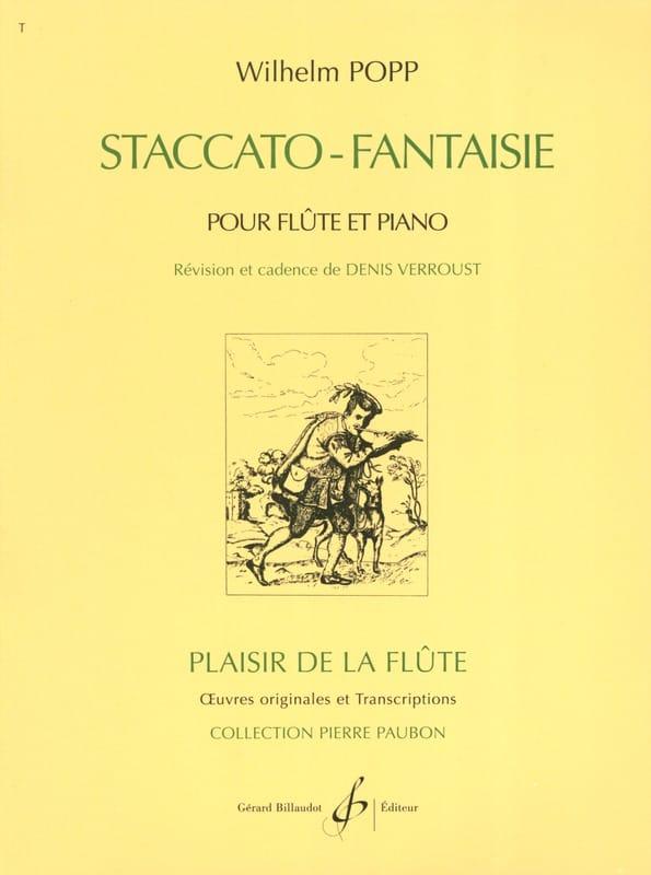 Wilhelm Popp - Staccato Fantasy - Partition - di-arezzo.com
