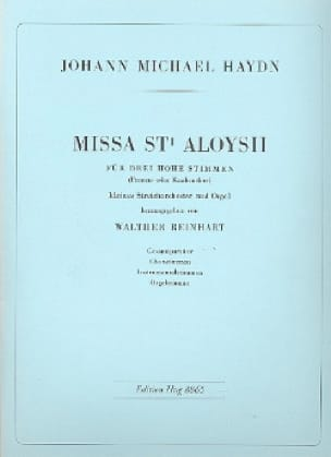 Missa Sti. Aloysii - Conducteur - Michael HAYDN - laflutedepan.com