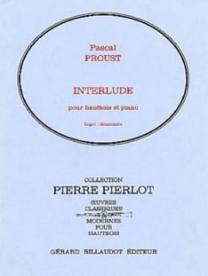 Pascal Proust - Interlude - Partition - di-arezzo.co.uk