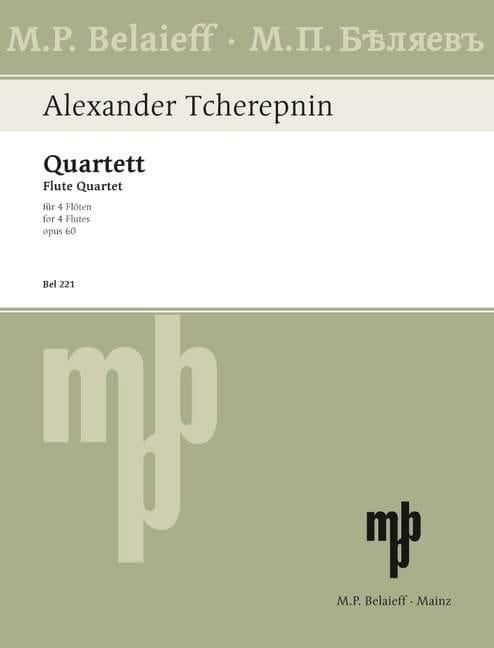 Quartett op. 60 - 4 Flöten - Alexandre Tcherepnine - laflutedepan.com