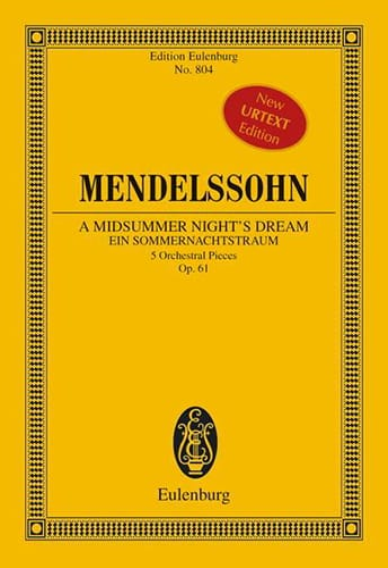 MENDELSSOHN - Ein Sommernachtstraum, 5 Stücke - Partition - di-arezzo.com