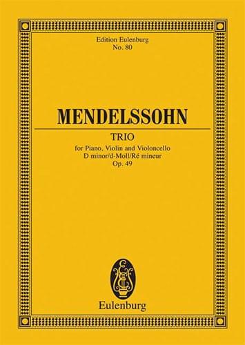 MENDELSSOHN - Klavier-Trio d-moll, op. 49 - Partition - di-arezzo.com