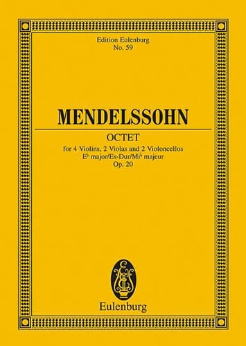 MENDELSSOHN - Oktett Es-Dur, Op. 20 - Partition - di-arezzo.com