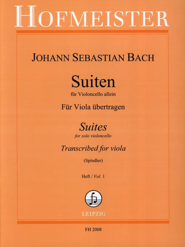 BACH - Suiten Für Violoncello Allein, Heft 1 - Alto - Partition - di-arezzo.co.uk