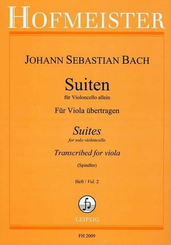 BACH - Suiten Für Violoncello Allein Heft 2 - Partition - di-arezzo.co.uk