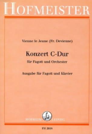 François Devienne - Konzert C-hard - Fagott Klavier - Partition - di-arezzo.com