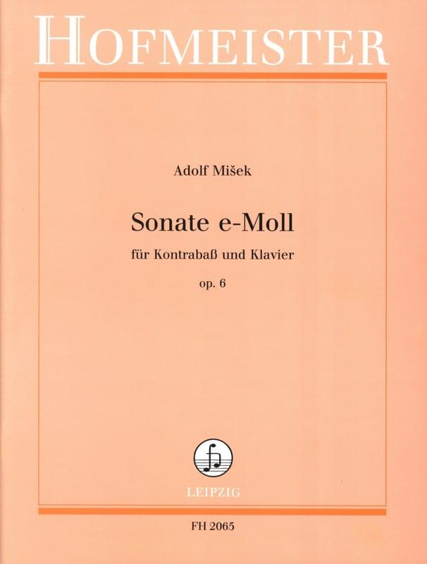 Adolf Misek - Sonata in E Minor Op. 6 - Partition - di-arezzo.co.uk