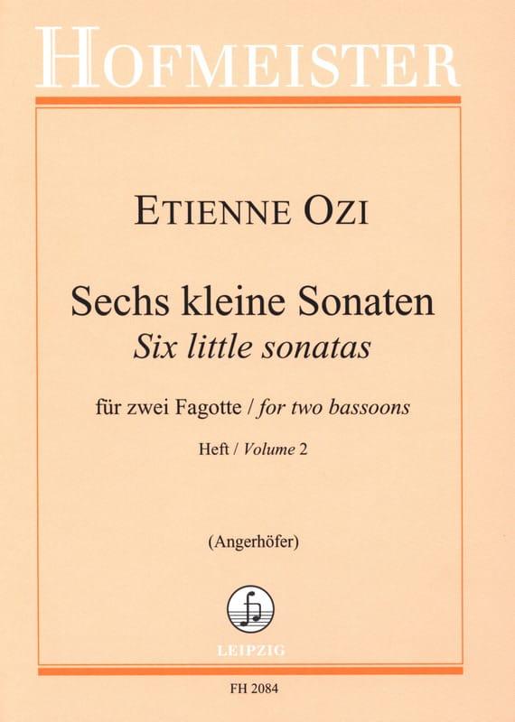 Etienne Ozi - 6 kleine Sonaten, Heft 2 - Partition - di-arezzo.com