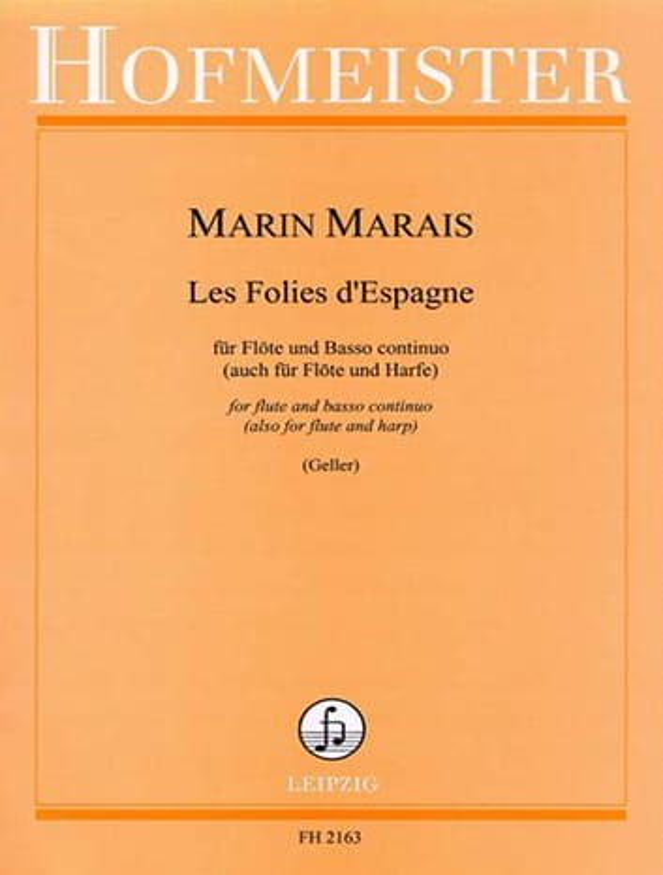 Les Folies d' Espagne - Flöte u. Bc - Marin Marais - laflutedepan.com