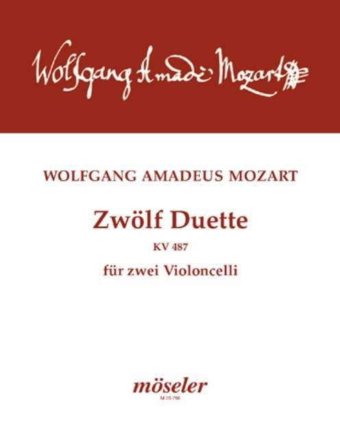 MOZART - Zwölf Duette für zwei Violoncelli - Partition - di-arezzo.fr