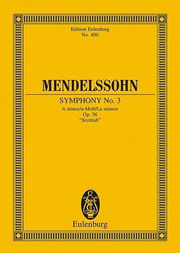 MENDELSSOHN - Symphony Nr. 3 A-Moll - Partitur - Partition - di-arezzo.com