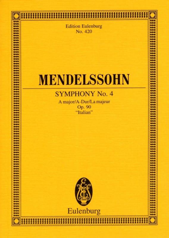 MENDELSSOHN - Symphony Nr. 4 A-Dur - Partitur - Partition - di-arezzo.com