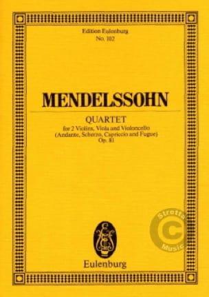 Quatuor N°7 Op. 81 en Mi Majeur - MENDELSSOHN - laflutedepan.com