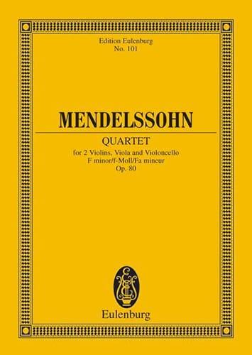 Streich-Quartett f-Moll, op. 80 - MENDELSSOHN - laflutedepan.com