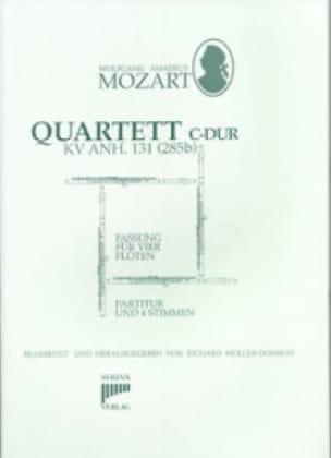 Quartett C-Dur KV Anh. 171 285b - 4 Flöten - MOZART - laflutedepan.com