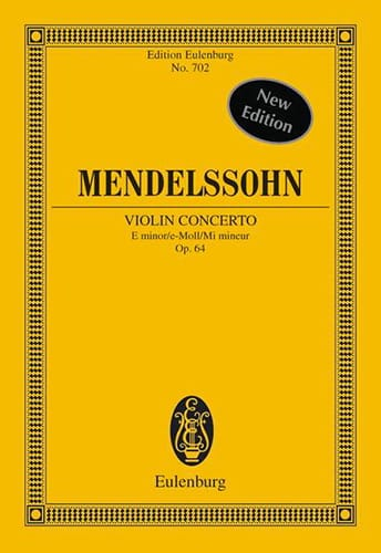 MENDELSSOHN - Violin-Konzert E-Moll, Op. 64 - Partition - di-arezzo.com