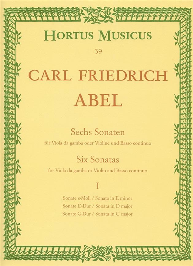Carl Friedrich Abel - 6 Sonatas - notebook 1 - Viola da gamba o. Violine - Partition - di-arezzo.co.uk