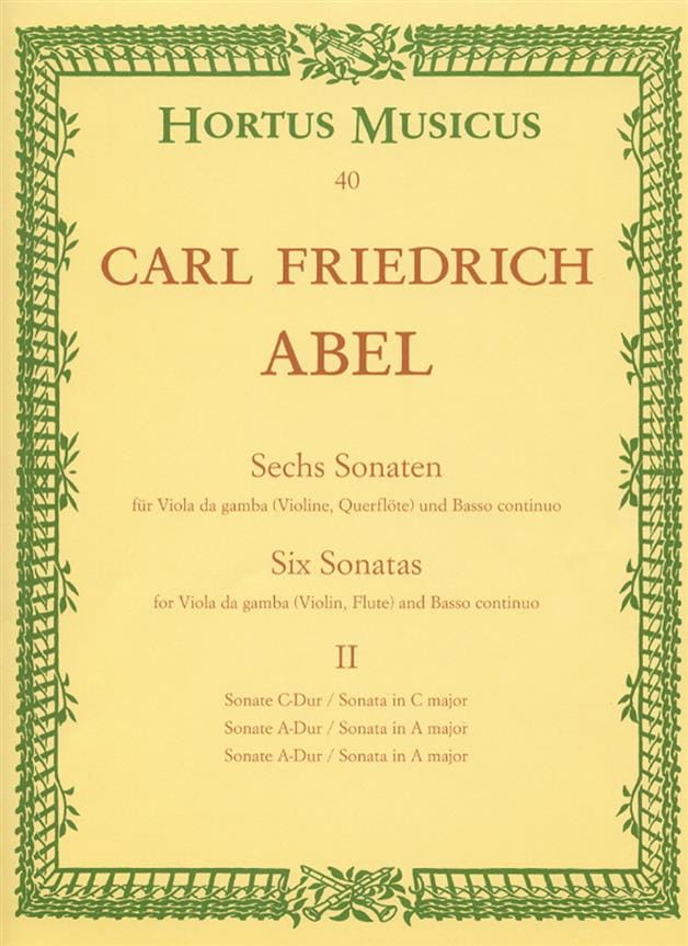 Carl Friedrich Abel - 6 sonatas - notebook 2 - Viola da gamba o. Violine, Querflöte - Partition - di-arezzo.co.uk