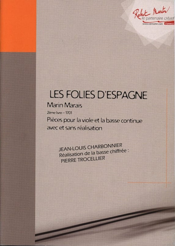 Marin Marais - The Folies Of Spain - 2nd Book 1701 - Partition - di-arezzo.com