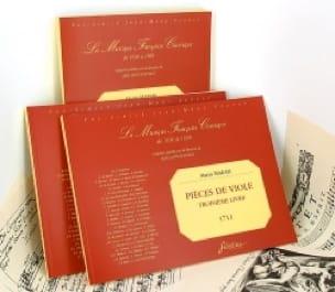 Marin Marais - Pieces of viol - 3rd Book - Partition - di-arezzo.com