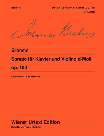 BRAHMS - Sonata D-Moll op. 108 - Partition - di-arezzo.com