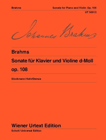 BRAHMS - Sonata D-Moll op. 108 - Partition - di-arezzo.es