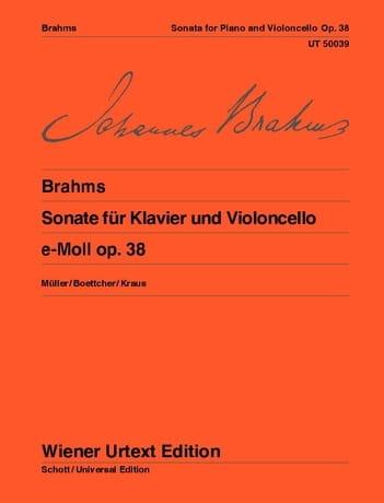 BRAHMS - Sonate en mi mineur op. 38 - Partition - di-arezzo.fr