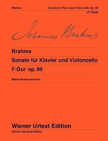 BRAHMS - Sonata F-Dur, op. 99 - Partition - di-arezzo.es