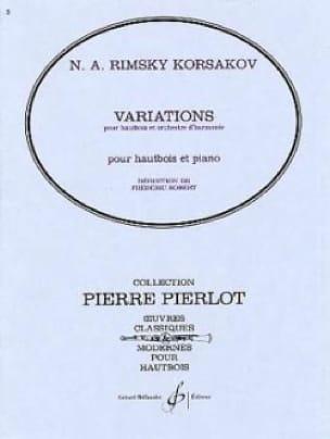 Variations - RIMSKY-KORSAKOV - Partition - Hautbois - laflutedepan.com
