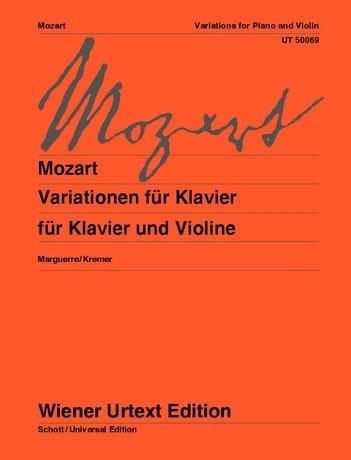 Variationen - MOZART - Partition - Violon - laflutedepan.com