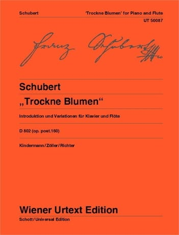 SCHUBERT - Variationen Trockne Blumen D. 802 Op. Post. 160 - Partition - di-arezzo.com
