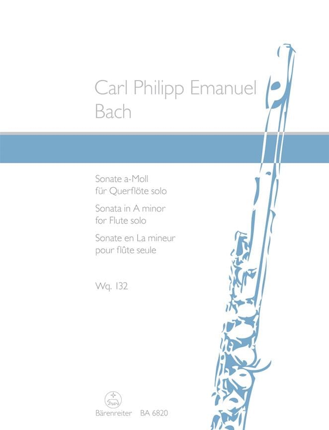 Carl Philipp Emanuel Bach - Sonata in A minor Wq 132 - Partition - di-arezzo.co.uk