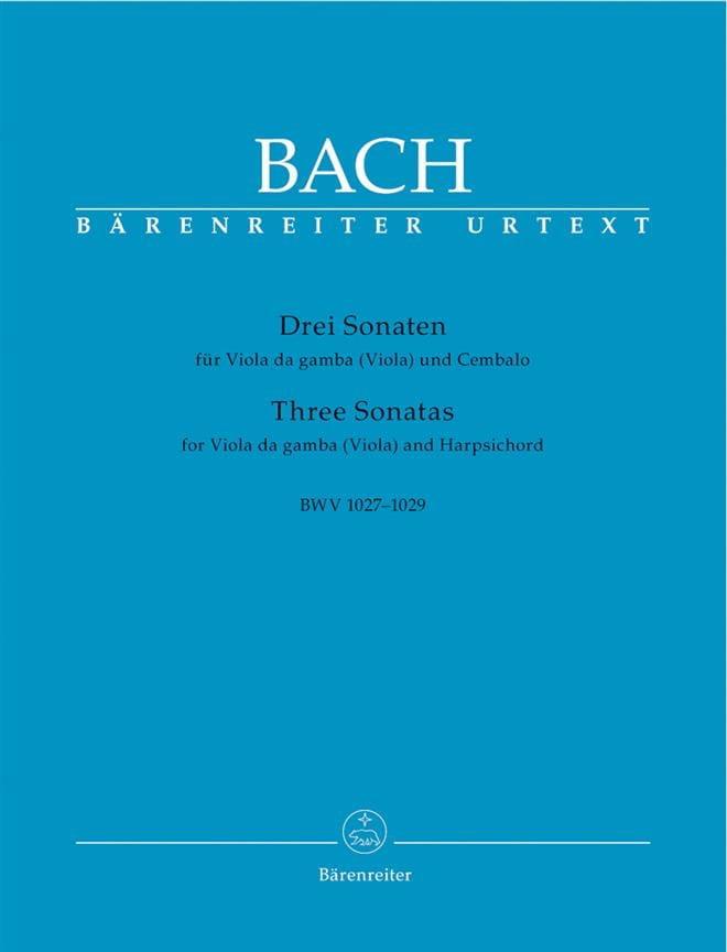 BACH - 3 Sonaten para Viola da gamba Viola y Cembalo BWV 1027-1029 - Partition - di-arezzo.es