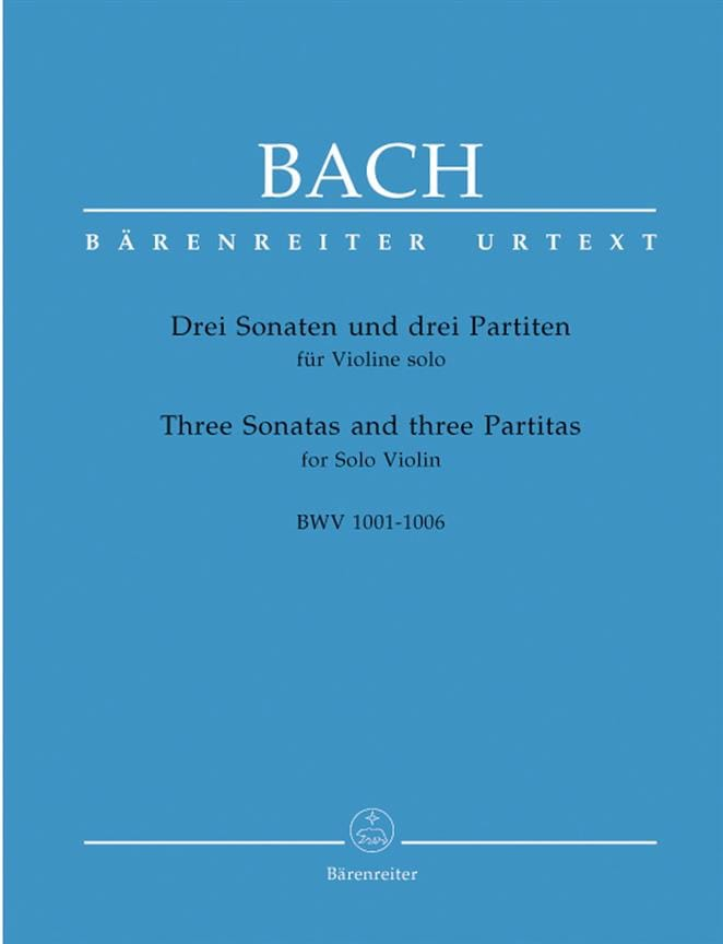 BACH - Sonatas and Partitas - Violin Only - Partition - di-arezzo.co.uk