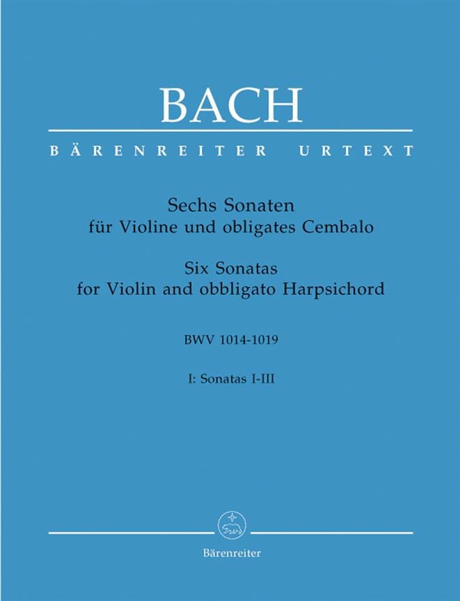 BACH - 6 Sonaten BWV 1014-1019, Band 1 - Partition - di-arezzo.co.uk