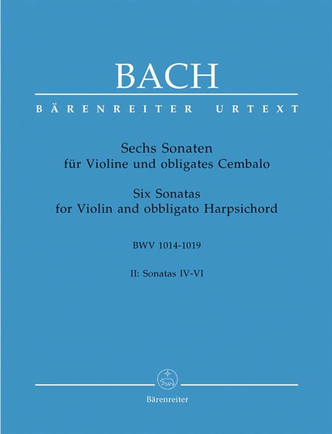 BACH - 6 Sonaten BWV 1014-1019, Band 2 - Partition - di-arezzo.co.uk