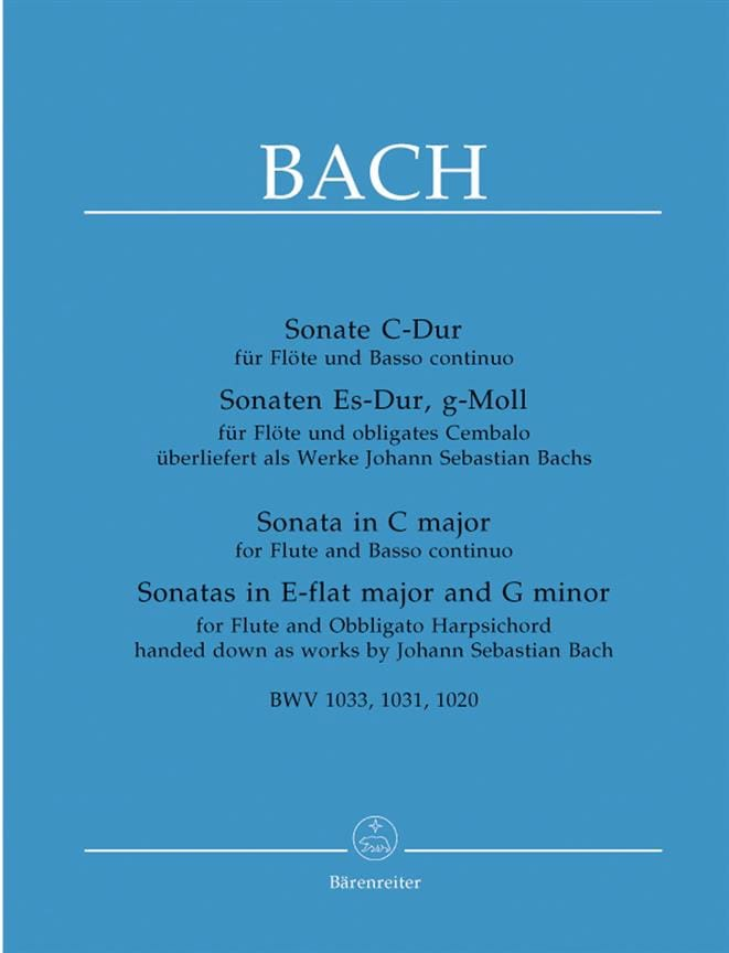 BACH - 3 Sonatas for flute and basso piano - Partition - di-arezzo.co.uk