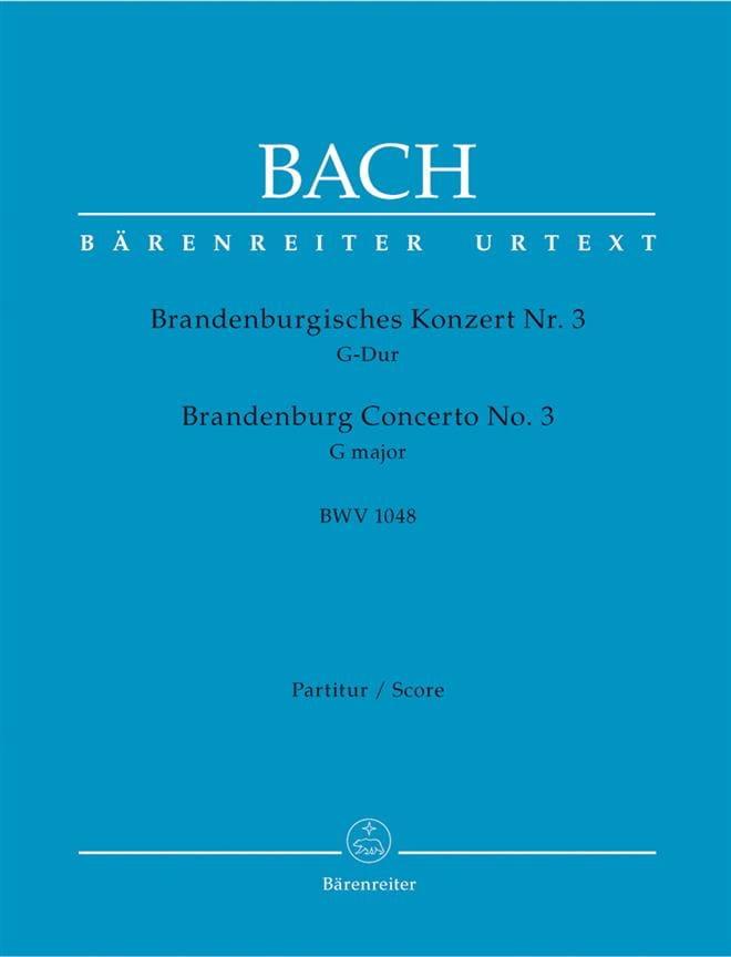 Brandenburgisches Konzert Nr. 3 G-dur BWV 1048 - Conducteur - laflutedepan.com