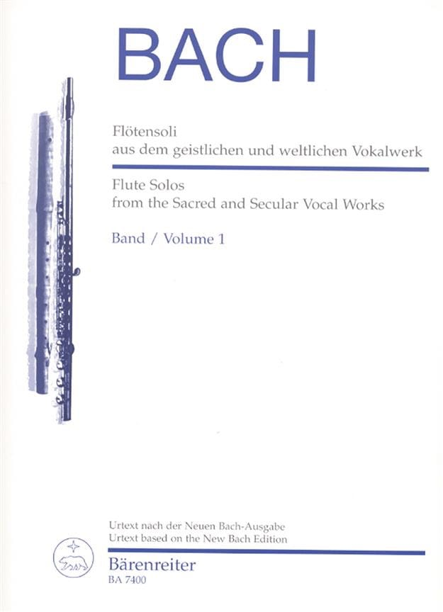 BACH - Flötensoli Bd. 1 aus dem geistlichen und weltlichen Vokalwerk - Partition - di-arezzo.co.uk