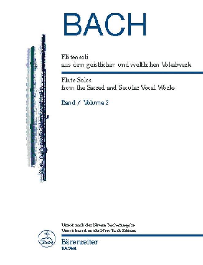 BACH - Flötensoli Bd. 2 aus dem geistlichen und weltlichen Vokalwerk - Partition - di-arezzo.co.uk