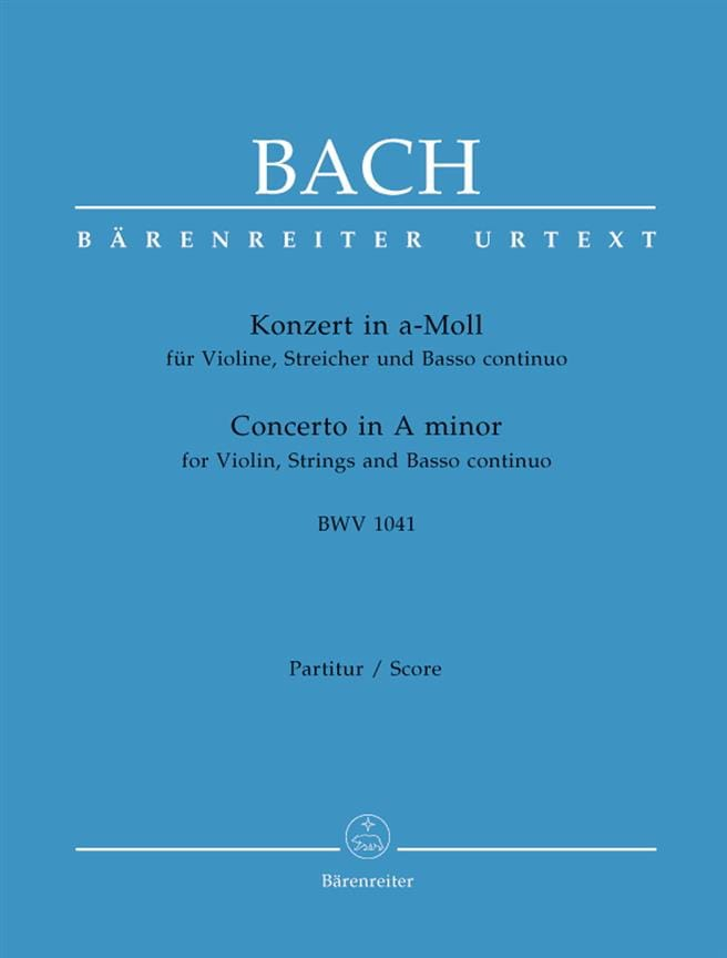 BACH - Konzert A-Moll BWV 1041 - Partitur - Partition - di-arezzo.co.uk