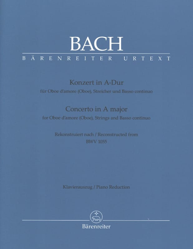 BACH - Konzert A-Hard nach BWV 1055 for Oboe Oboe - Klavierauszug - Partition - di-arezzo.co.uk