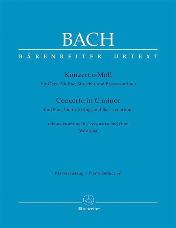 BACH - Konzert c-moll nach BWV 1060 - Oboe Violine Klavier - Partition - di-arezzo.com