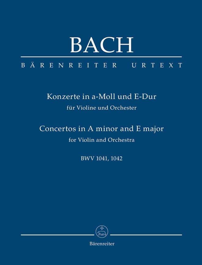 Konzerte a-moll BWV 1041 und E-Dur BWV 1042 für Violine, Streicher und Bc.Urtext - laflutedepan.com