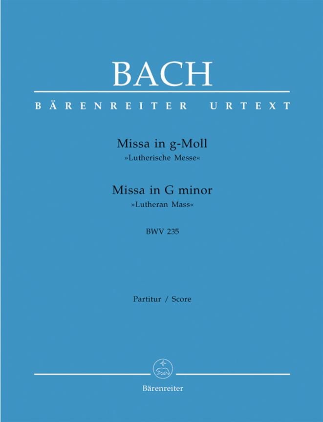 Missa g-moll Lutherische Messe BWV 235 - Conducteur - laflutedepan.com