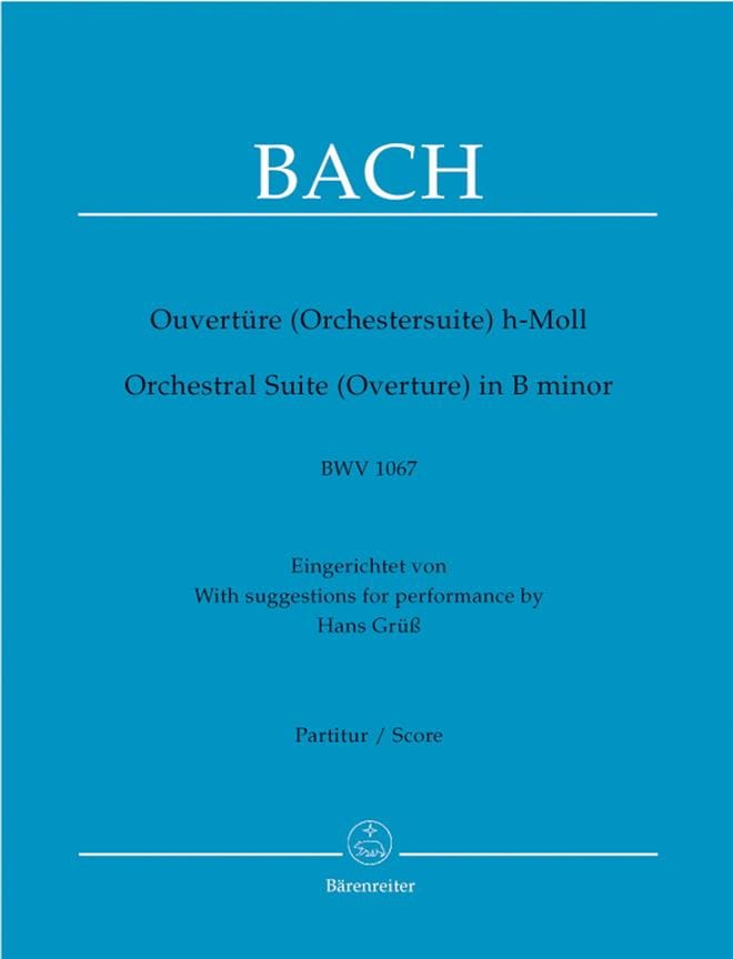 BACH - Opening of the suite in Si BWV 1067 - Driver - Partition - di-arezzo.co.uk
