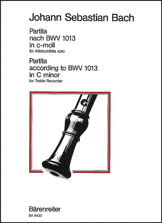 BACH - Partita c-moll nach BWV 1013 for solo Altblockflöte - Partition - di-arezzo.com