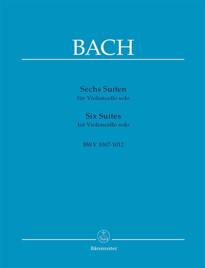 BACH - 6 Suites for Cello Alone - Partition - di-arezzo.co.uk