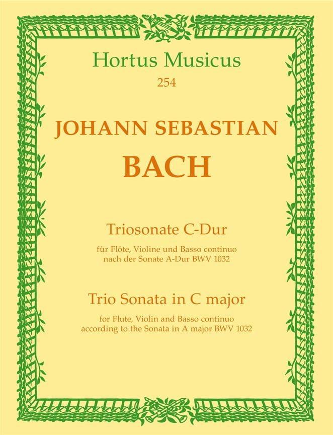 BACH - Triosonate C-Dur nach Sonata BWV 1032 - Flute Violine u. Bc - Partition - di-arezzo.com